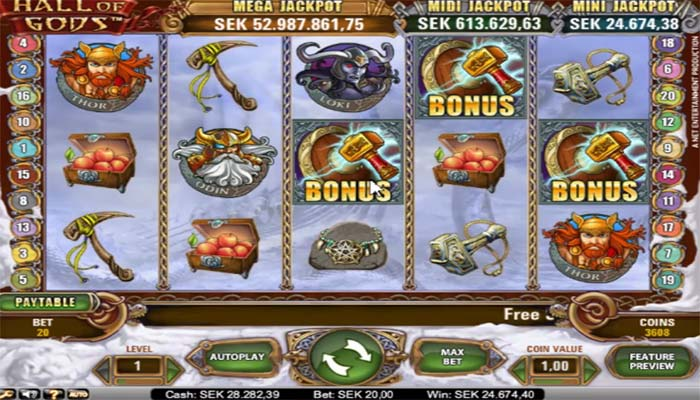 Hall of Gods Jackpot slots