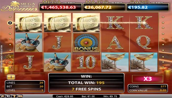 Mega Fortune Dreams Jackpot slots